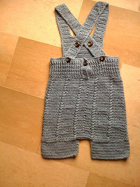 Free Crochet Pattern Baby Dungarees
