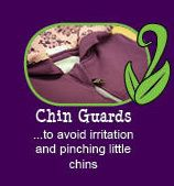 12 reasons why Peekaboo Beans is different than other kids clothing brands.  REASON #1 - Chin guards!
