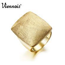 Nejnovější Viennois zlato nebo postříbřené GB Geometrické Rings for Women Šperky Obdélníkové Svatby Rings (Čína (pevninská část))