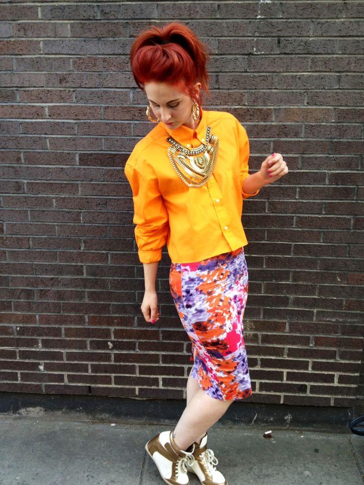Summer brights! #SS13 #orange #streetstyle http://ljtfash.blogspot.co.uk/2013/07/orange-teamed-with-orange.html