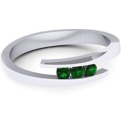 Inel logodna L132ASM cu smaralde