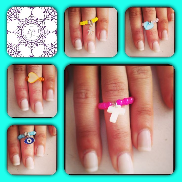 Layal glyfada summer rings miniature cute colorful