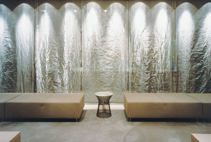 Privacy Interiors Amro Bank Stainless Steel Woven Wire Mesh TEXTURA