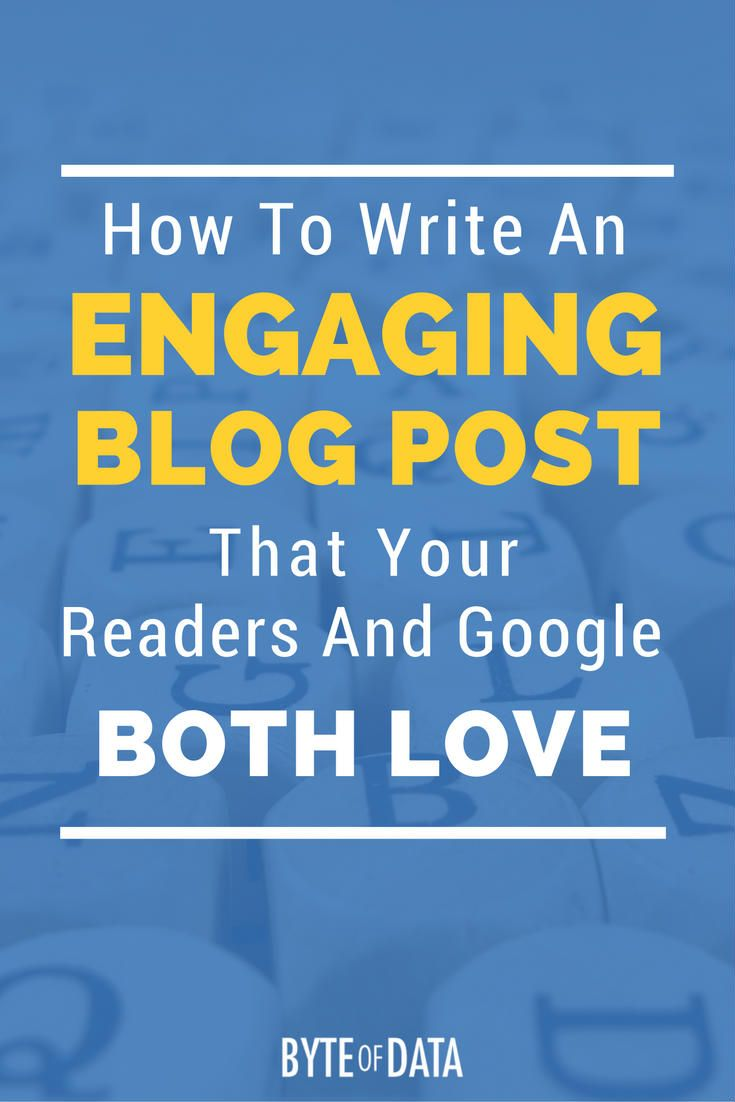 How To Write An Engaging Blog Post That Your Readers And Google Will Both Love. via @davidhartshorne