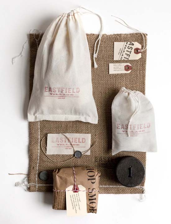 Burlap sacks and brown paper wrapping - just add a stamp or tag - need to do!