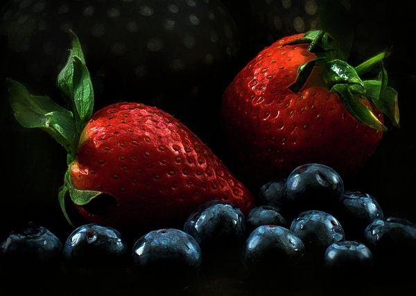 """Berry Good"" ...enhanced photographic print..."