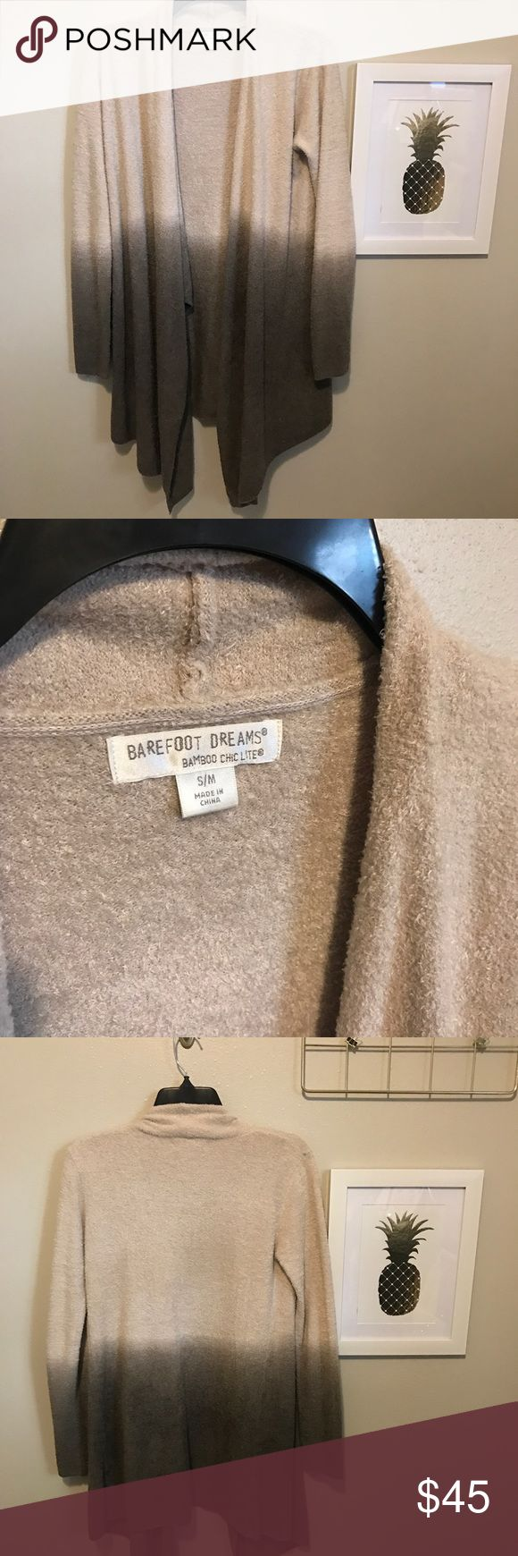 Cocoa Ombré Barefoot Dreams Calypso Wrap Cardigan Excellent condition. Ombré Cocoa. Tan and brown. Very soft. From Nordstrom. Small/Medium Barefoot Dreams Sweaters Cardigans