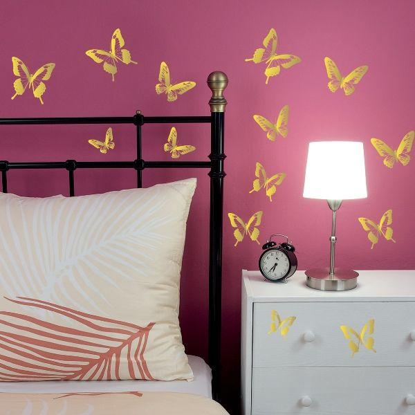 "Наклейки для дома ""Золотые бабочки"" http://decoretto.ru/babochki-dekor-sten-babochkami/zolotyie-babochki/"