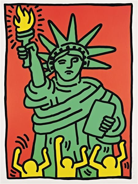 Keith Haring, Statue of Liberty, 1986