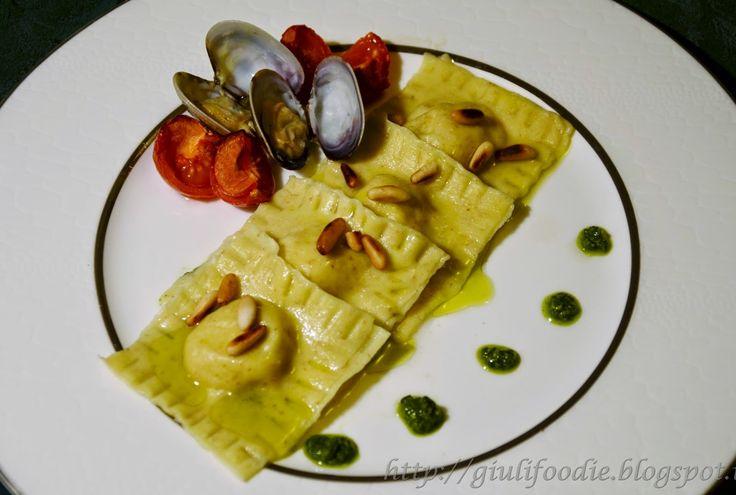 Giuli Foodie: Ravioli di Gallinella di Mare con Pesto Leggero al...
