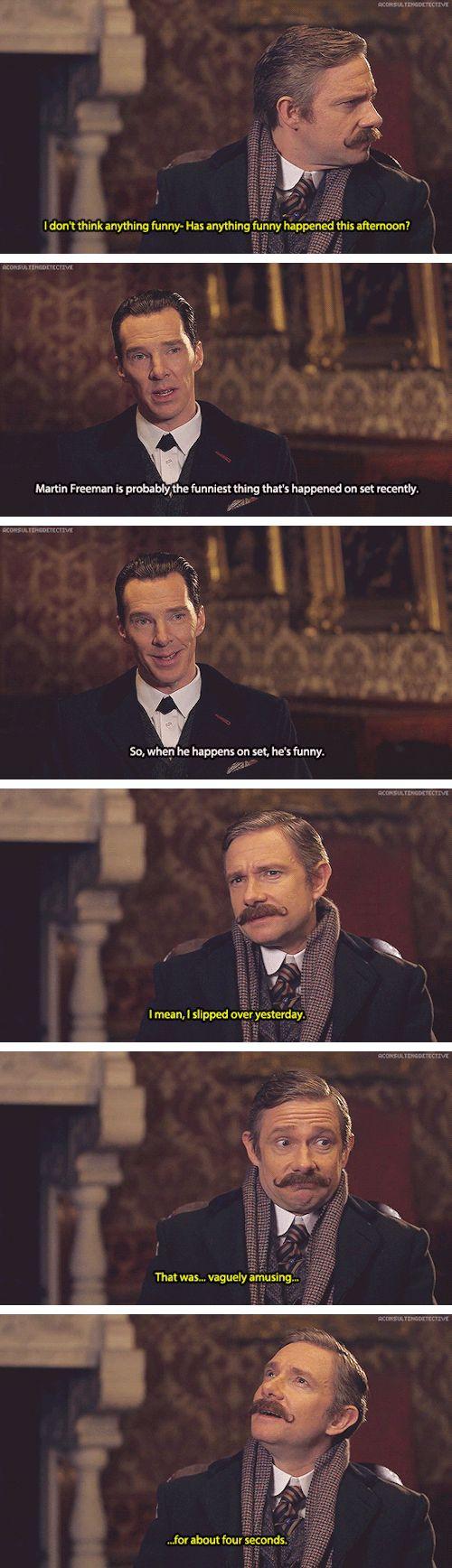Sherlock: Martin Freeman and Benedict Cumberbatch