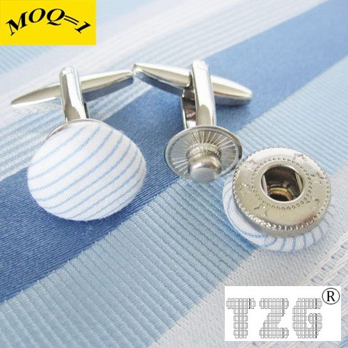 TZG10132-1 Fabric Button Cufflink Cuff Link 1 Pair Free Shipping Promotion(China (Mainland))