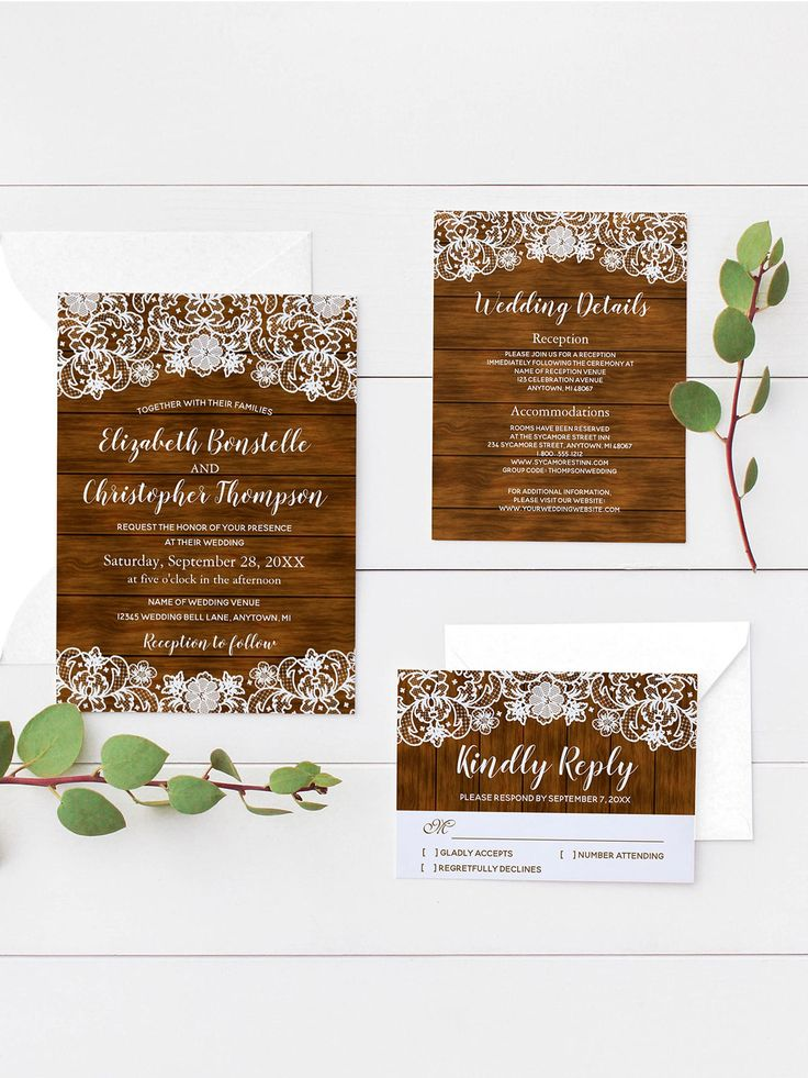 zazzle wedding invitations promo code%0A Rustic Barn Wood and White Lace Wedding Invitation Suite  from Ovenbird  Designs