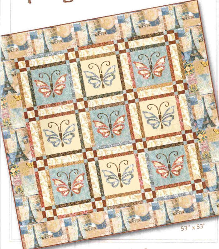 Springtime in Paris Quilt Pattern NRD-197 by Nancy Rink Designs. Applique quilt pattern. Advanced beginner, lap and throw.