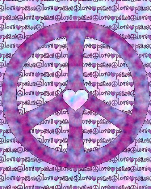 ➳➳➳☮American Hippie Art - Peace Sign