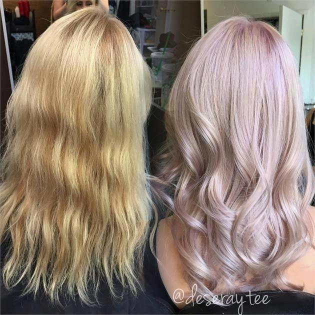 TRANSFORMATION: Pretty In Pale Lavender Pink – Karriere – Moderner Salon #prettyhair