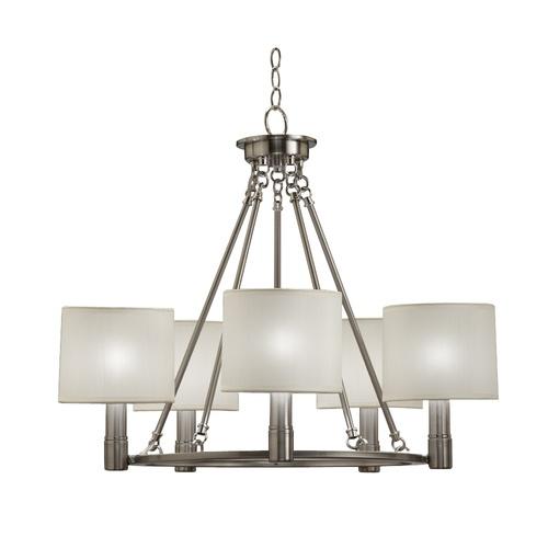 Lowes Light Fixtures Dining Room: 5 Light Brushed Nickel Chandelier