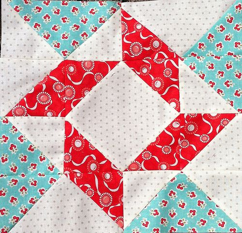 2012-2013 Designer Mystery BOM, Block #1! Lovely Vintage Modern fabric by Bonnie!