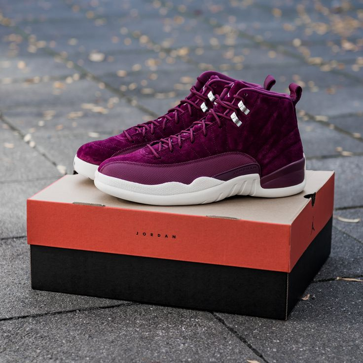 Air Jordan XII in bordeaux colorway.  Now available at KICKZ.com