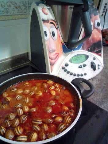 Caracoles en salsa con thermomix 31