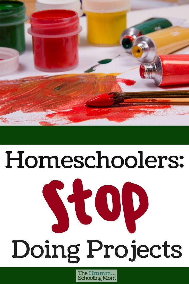 Are you a member of the *Homeschoolers Doing Projects For The Sake of Doing Projects* Club? Let's have a chat about that, shall we?