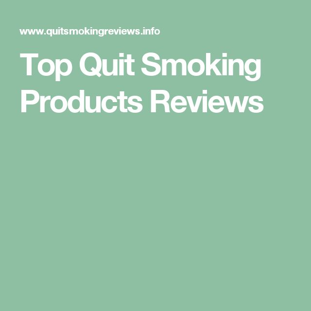 Top Quit Smoking Products Reviews