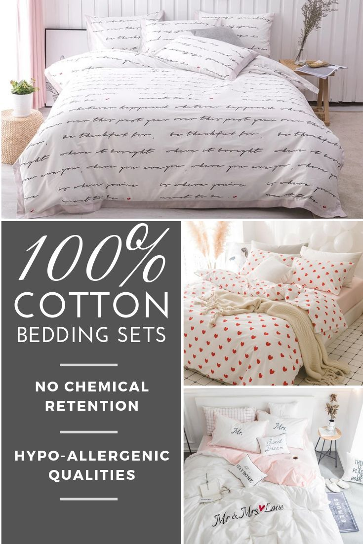 Make Your Bed Toxins Free With Our 100 Cotton Bedding Sets Made From Organic Cotton With No Chemical Retention Cotton Bedding Sets Bedding Sets Cotton Bedding