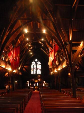 Old St Paul's Cathedral, Wellington NZ. You can smell the timber as you enter the church and the construction is amazing.