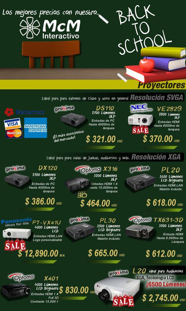 Los mejores precios en proyectores para este regreso a clases.