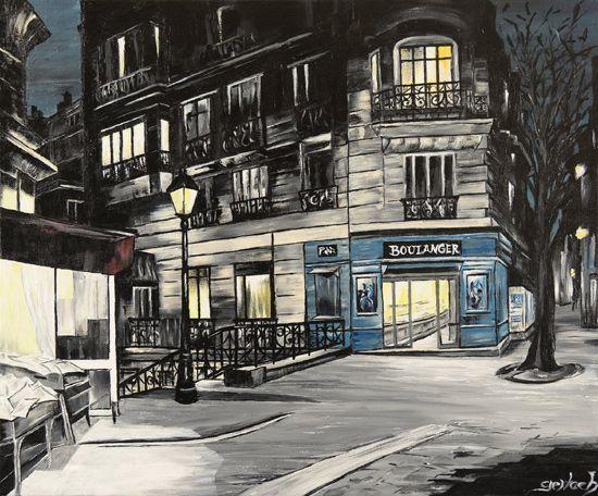 Boulanger rue Caulaincourt par Dagmar Gerlach - Dessine moi Paris