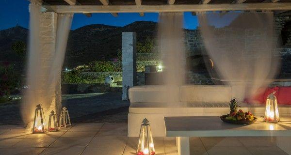 Patio of Moonlight Villa in Paros Greece. http://instylevillas.net/property/moonlight-villa-paros/
