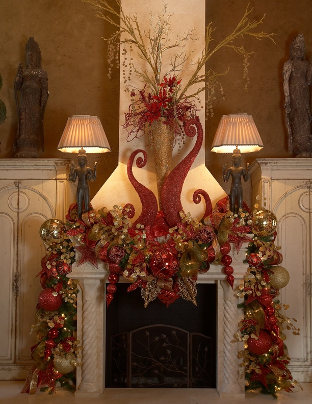 Christmas mantle: INspiration AWesomeness!