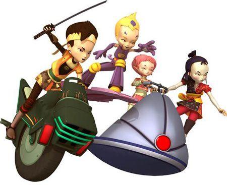 Código Lyoko: Ulrich, Odd, Aelita y Yumi en Lyoko
