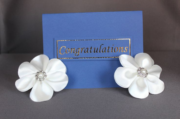Blue Congratulations Card With Gold Foil by DazzlingCreationsCA on Etsy