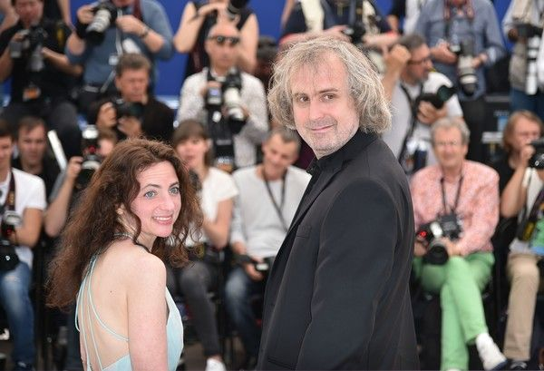 "US actress Chloe Levine (L) and US director Michael O'Shea pose on May 14, 2016 during a photocall for the film ""The Transfiguration"" at the 69th Cannes Film Festival in Cannes, southern France.  / AFP / ALBERTO PIZZOLI"