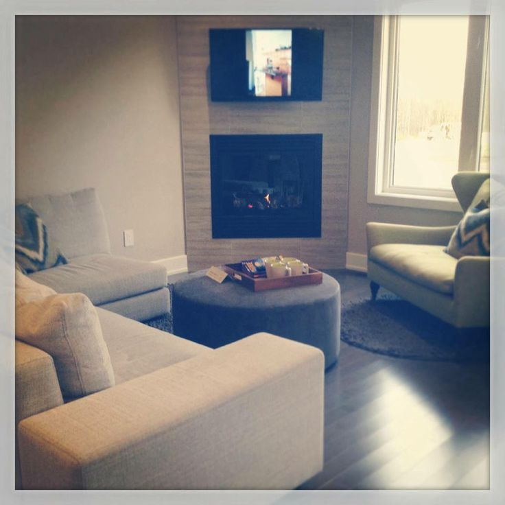 Living room of our Porter Model Home/Sales Centre