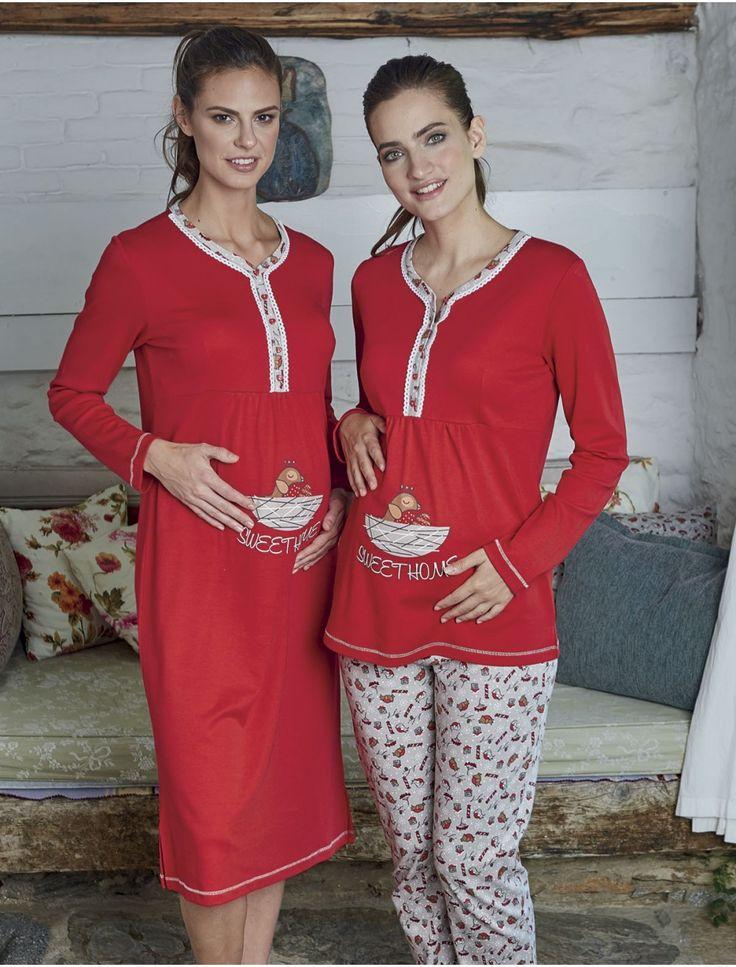 En şık lohusa pijama takımı ve geceliği. #hamilegiyim #gecelik #lohusa #pijama