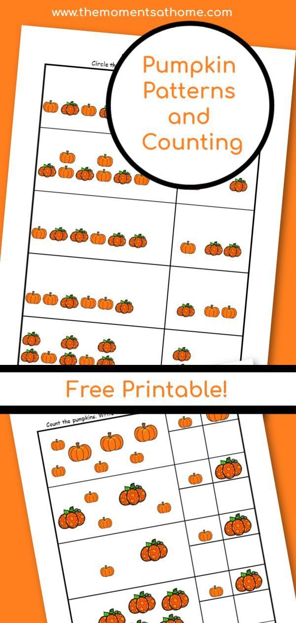Pumpkin Math Patterns Printable Worksheets Pumpkin Math Math Patterns Preschool Math Worksheets Pumpkin math worksheets kindergarten