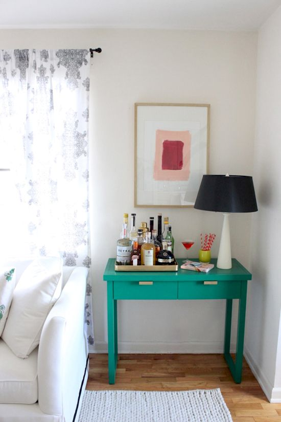coco+kelley sherwin williams painted console
