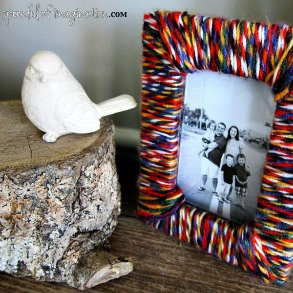 DIY Yarn Picture Frame