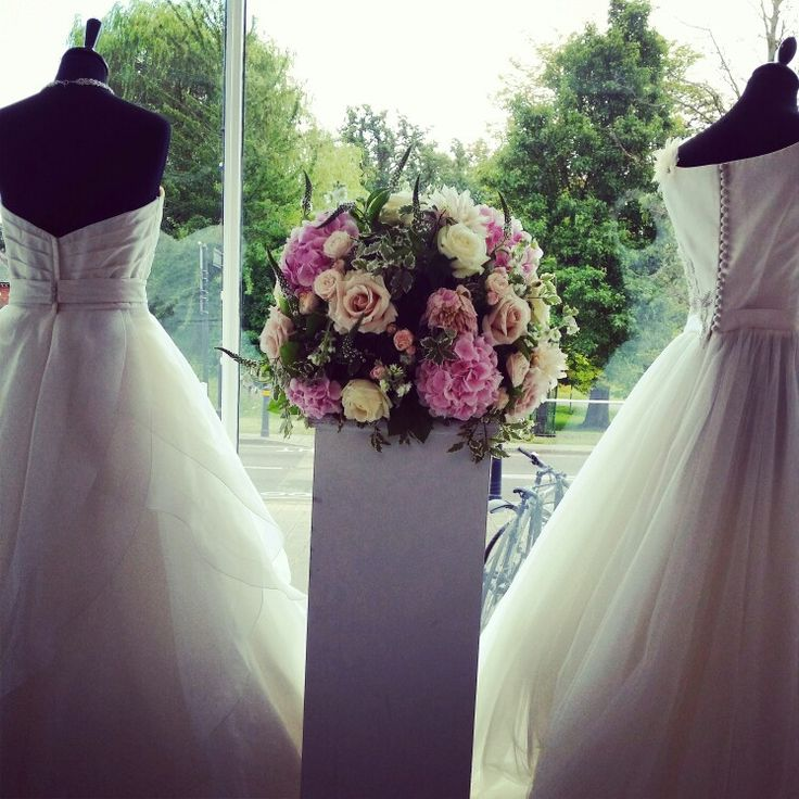Wedding dress shopping for the bride to be! Brides of Odiham, gorgeous shop!
