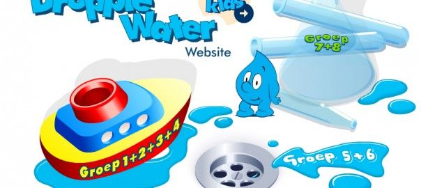 Droppie Water Website project over water