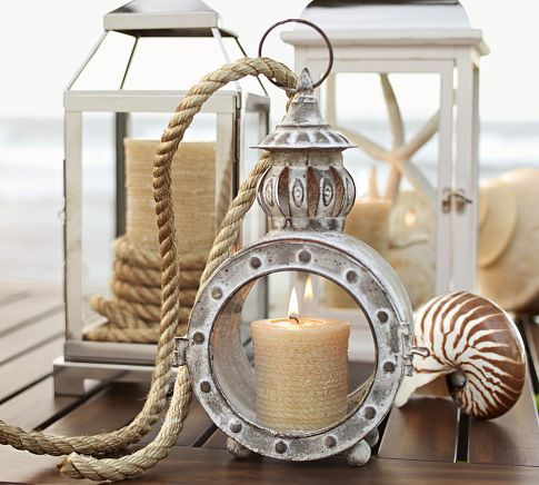 Graham Metal Lanterns by Pottery Barn - I'm totally in love with the little circle one!!!