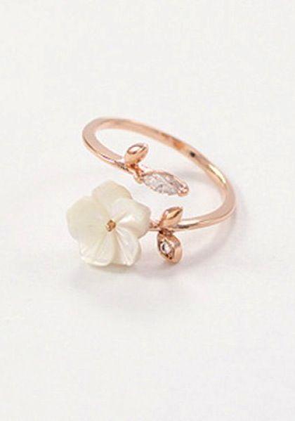pretty little flower cuff ring                                                                                                                                                                                 More