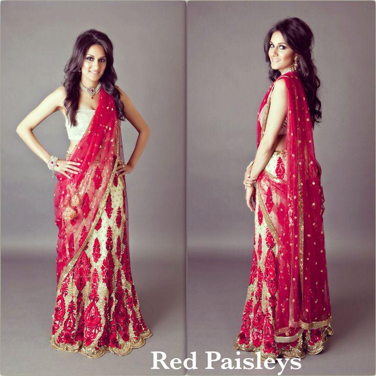 Red Gold #Lehenga  RedPaisleys.com  469.248.7733 Info@redpaisleys.com