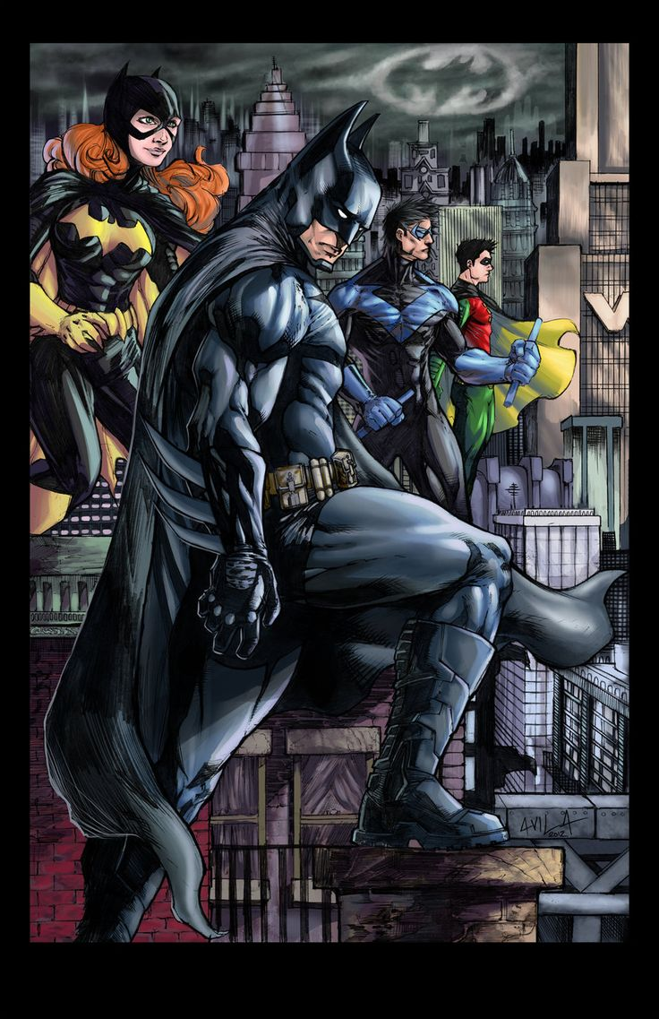 Fashion of the bat an extremely thorough examination of batman s - Batman And Co Colored By Hanzozuken On Deviantart