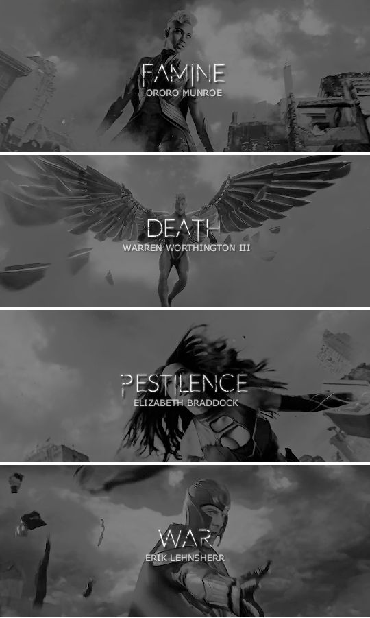 The Four Horsemen of the Apocalypse. He got that one from the Bible. Or the Bible got it from him. #marvel