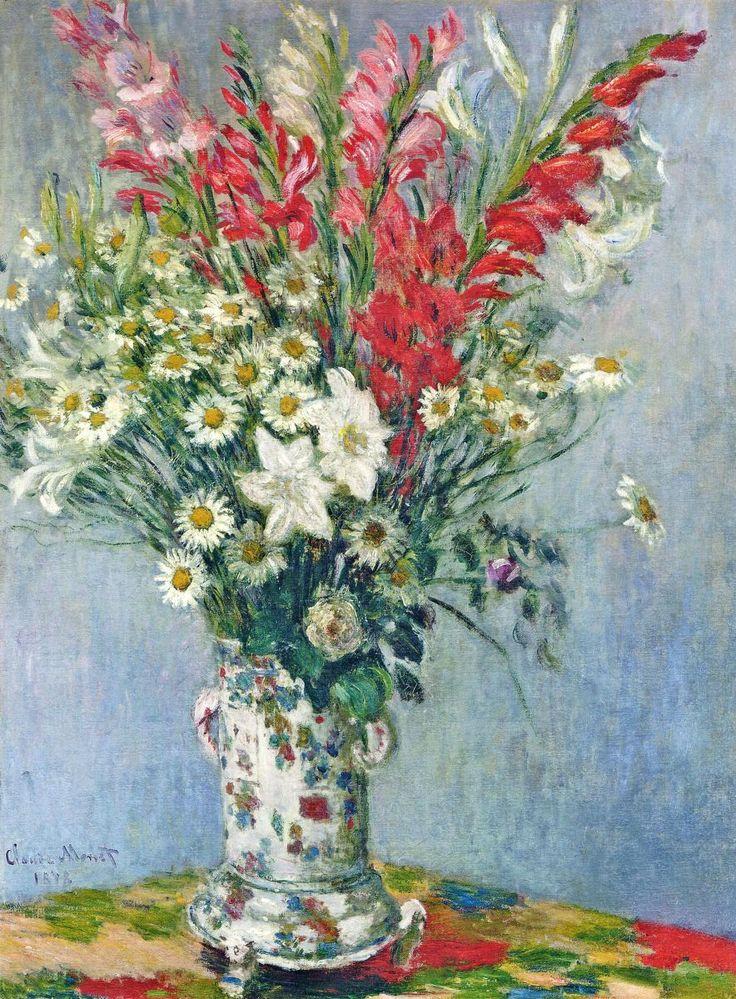 Букет гладиолусов ренуара, цветы костромская