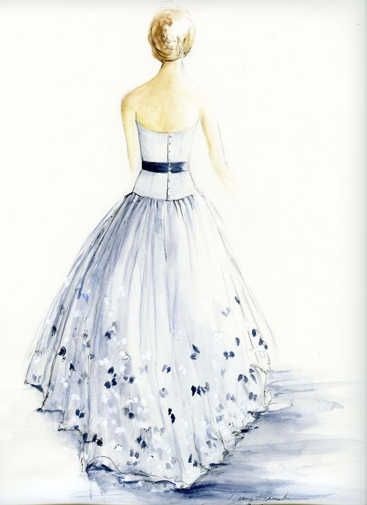 Wedding gowns paintings. I want to do one of mine some day