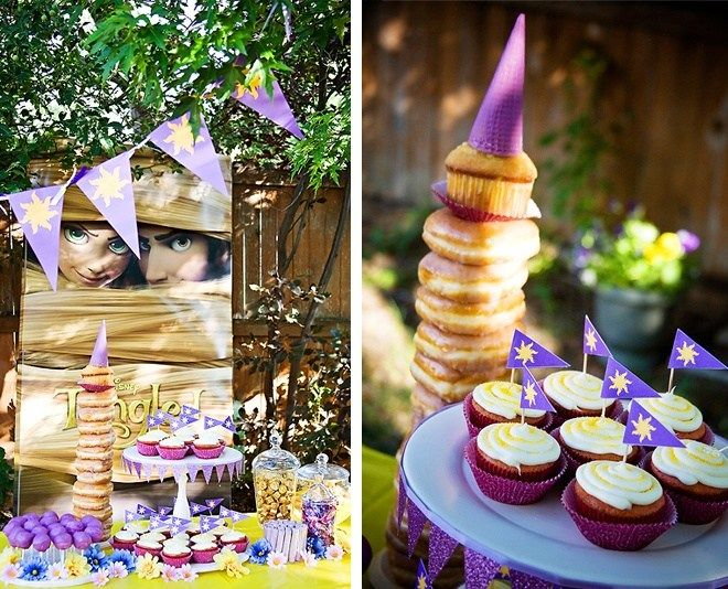 A Disney Tangled Birthday Party For Girls With Homemade Rapunzel Cake Costumes